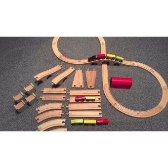 Homework ชุดของเล่นรถไฟพร้อมราง 20 ชิ้น ไม้ สามารถซื้อส่วนต่อขยายเพิ่มให้ใหญ่ขึ้นได้เรื่อยๆ