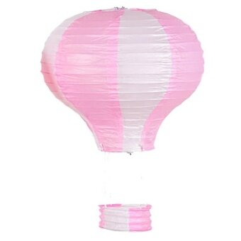 Hot Air Balloon Paper Lantern Birthday Party Wedding DecorationStyle:Pink white Size:16 inch 40cm color note - intl