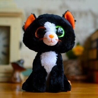 Hot Ty Beanie Boos Kids Plush Toys Big Eyes Colorful MAGIC Sophie Black Cat Lovely Gifts Kawaii Girls Cute Stuffed Animal Dolls - intl
