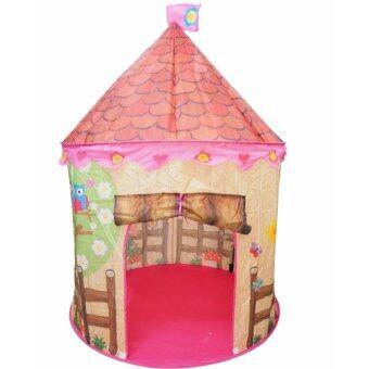 HOUSE บ้านเด็ก เต็นท์บ้านเต็นท์เด็ก เต็นท์ของเล่น บ้านของเล่น รุ่น อัศวิน [พรีเมี่ยมชมพู]
