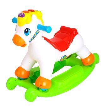 Huile ม้าขาไถ+โยกเยก 3in1 Huile Toys Happy Rocking Pony