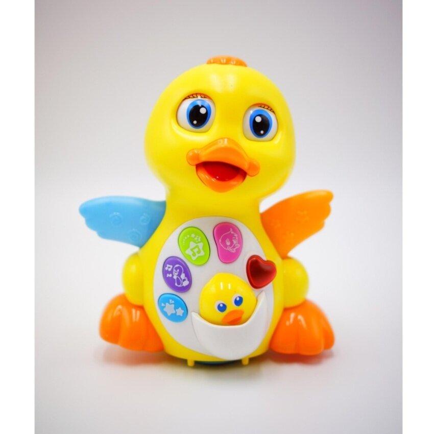 Huile Toys ของเล่น เป็ดดุ๊กดิ๊ก (EQ Flapping Yellow Duck)