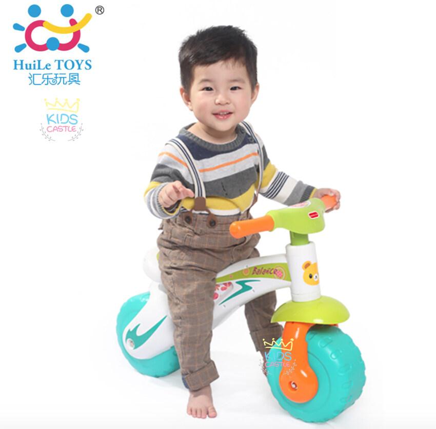 Huile Toys จักรยานทรงตัว จักรยานฝึกหัดขับสำหรับเด็กสีฟ้าขาว  HuiLe Baby Balance Bike