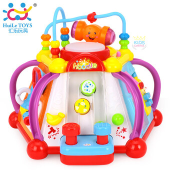 Huile Toys กล่องกิจกรรมห้าเหลี่ยม Interesting fun Box Small