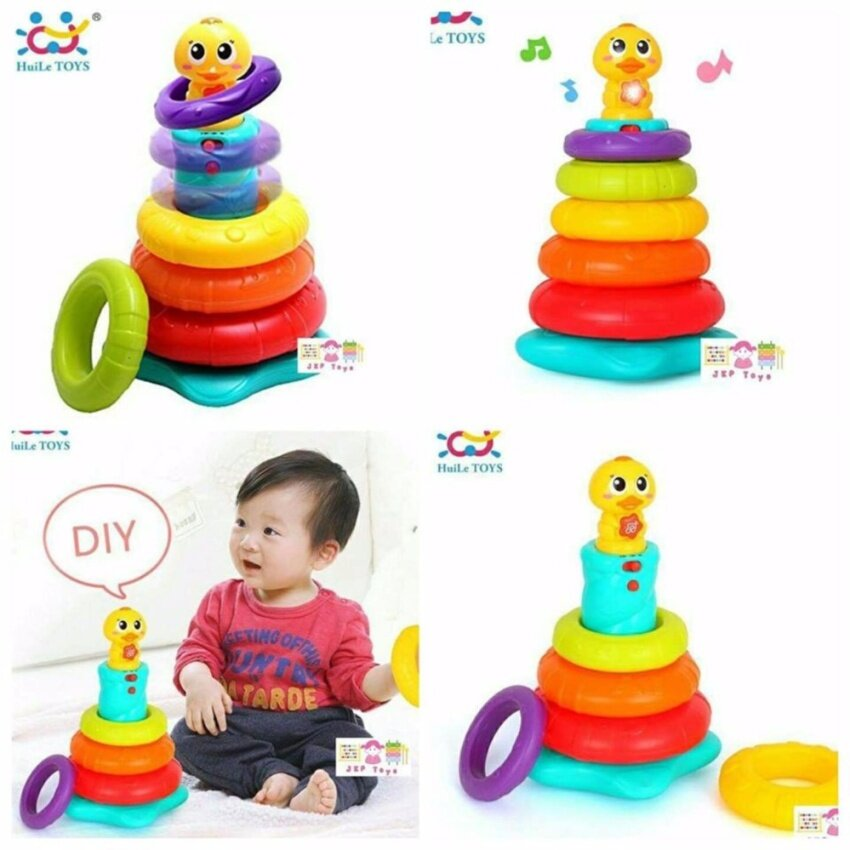 Huile Toys Stacking Rainbow Duck ห่วงเรียงซ้อนลูกเป็ดน้อย image
