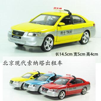 ปักกิ่ง Hyundai เสียงและแสงรุ่นอัลลอยรถโมเดลของเล่นรถแท็กซี่