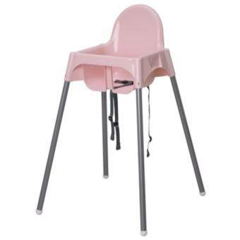 IKEA shop สีชมพู เก้าอี้ทรงสูง (ไม่มีถาด) เก้าอี้ทานข้าวเด็กทรงสูง 0.6 - 4 ปีขนาด 58*62*90 ซม. พร้อมเข็มขัดนิรภัย