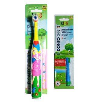 Dontodent แปรงสีฟันไฟฟ้า-ลายเจ้าหญิง Prinzessin (สำหรับเด็กตั้งแต่ 3 ขวบขึ้นไป)