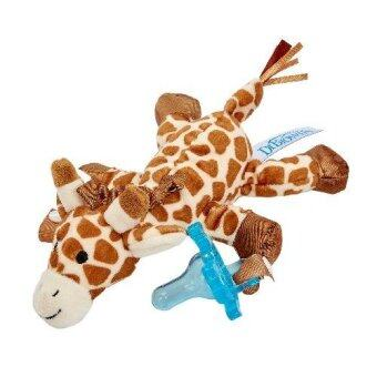 Dr.Brown'sจุกหลอกGiraffe Lovey with Blue One-Piece Pacifier(Blue)