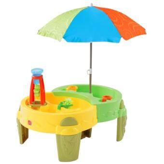 Step2 โต๊ะเล่นน้ำสุขสันต์+ทรายพร้อมร่ม รุ่น 8007 - Blue/Yellow