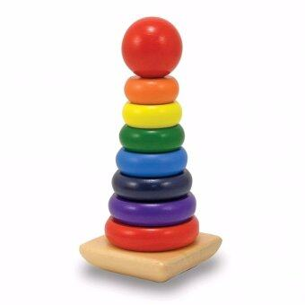 Trainandtoys ของเล่นห่วงเรียงซ้อน Rainbow Stacker