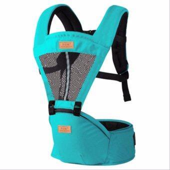 ทะเลสาบน้ำเงิน มัลติฟังก์ชั่ ระบายอากาศได้ ไหล่คู่ Baby Carrier ผู้ให้บริการทารก เอว เข็มขัด with เอว ม้านั่ง