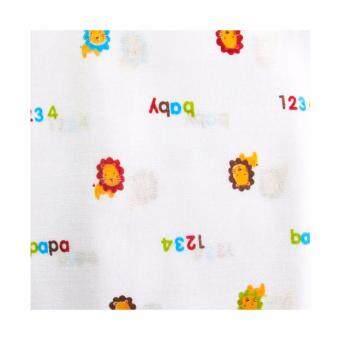 Papa Baby ผ้าอ้อมสาลู ขนาด 24x24 นิ้ว แพ็คละ 12 ผืน ลายสิงโต รุ่น PR-70B (image 2)
