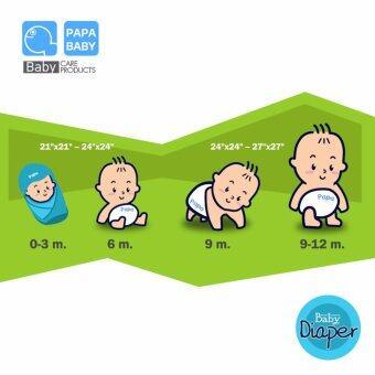 Papa Baby ผ้าอ้อมสาลู ขนาด 24x24 นิ้ว แพ็คละ 12 ผืน ลายสิงโต รุ่น PR-70B (image 3)