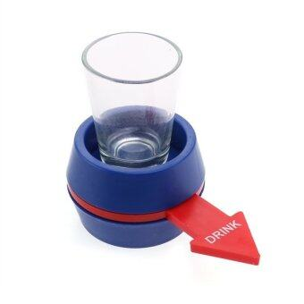 Harga Excellent Shot Spinner Party Game Rotatable Arrow Beer Wine Glass Cup Kit (Blue) (Intl)