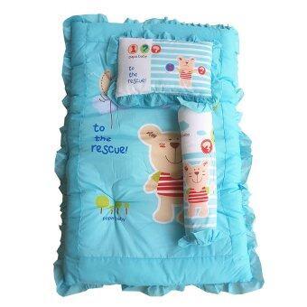 PAPA ชุดที่นอนปิคนิคใหญ่ ลายหมี (สีฟ้า)