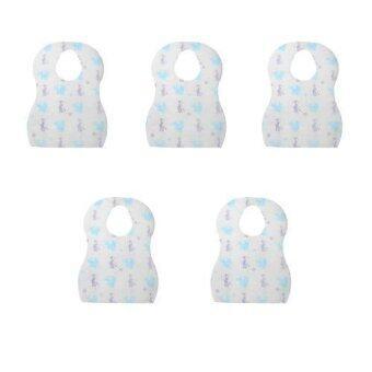 Replica Shop ผ้ากันเปื้อนเด็กสีฟ้า 10 ชิ้น/ซอง (แพค5ซอง)