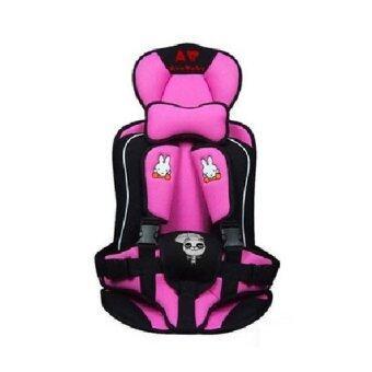 Madamphooh คาร์ซีทแบบพกพา (Child Car Seat) ที่นั่งในรถสำหรับเด็ก (สีชมพู)