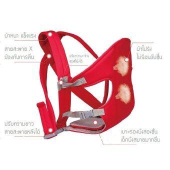 เป้อุ้มเด็กสะพายหลัง สายสะพายX รุ่น X1 - สีแดง (image 3)