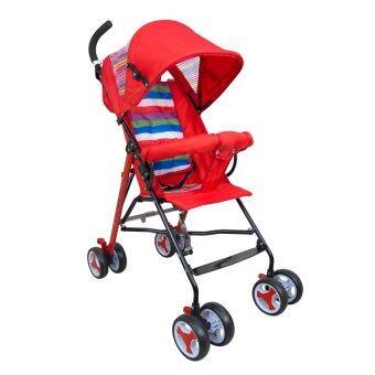 HHsociety รถเข็นเด็กพับได้ Baby Stroller รุ่น S-311 (สีแดง/รุ้ง)