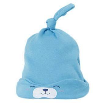 ทารกแรกเกิดน่าเกลียดน่าชังหญ้าคาใบฝ้ายหลับเด็กหมวกหมวกหมวกหมวกสีน้ำเงิน