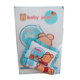 Papa ที่นอนฟองน้ำเล็ก baby pooh (สีฟ้า)