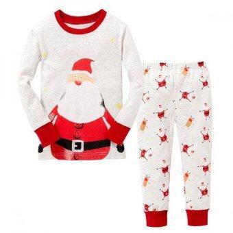 Baby Wardrobe ชุดนอนเด็ก Santa Claus สีขาว-ครีม-แดง