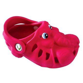 รองเท้าเด็กแบบรัดส้น Polliwalks - Ellie the Elephant