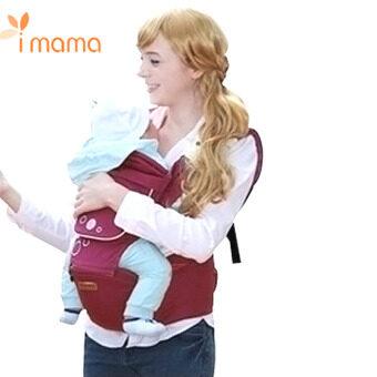 i-mama เป้อุ้มเด็ก เป้สะพายเด็ก เป้เพื่อสุขภาพ(สีแดง) i-mama Hip Seat Carrier (Maroon)