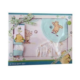 Disney Gift Set ชุดของขวัญ เด็กแรกเกิด 4 ชิ้น (สีเขียว)