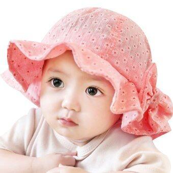 เด็กสาวหน้าร้อนกลางแจ้งหมวก (สีแดง)