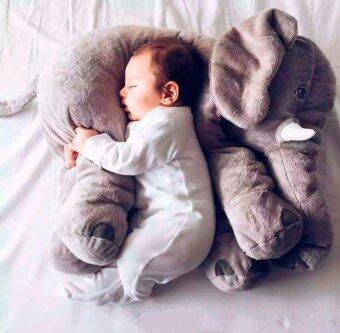 จมูกยาวนุ่ม ๆ หมอนตุ๊กตาช้างผ้าพลัฌเอวหมอนตุ๊กตาร่างกายสำหรับเด็กเด็กเด็กอ่อน