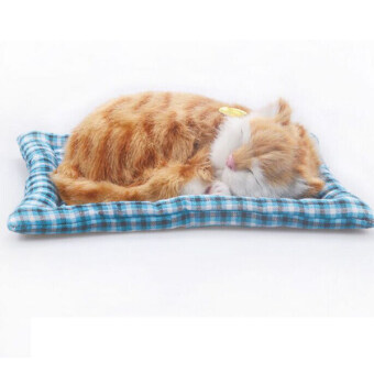 Harga Simulation animal cat bed pet sleepping cat can meow - Intl