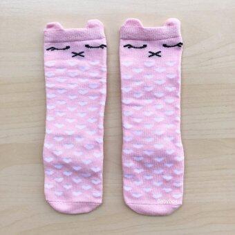 ถุงเท้าเด็กอ่อน ถุงเท้าเด็กน่ารัก ถุงเท้าครึ่งแข้งลายแมว