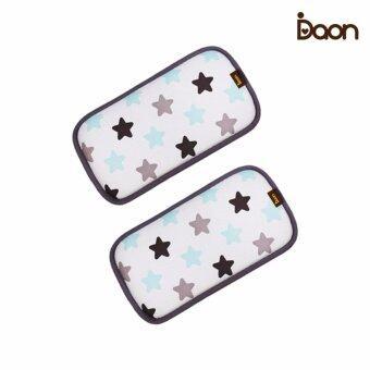 Daon หมอนหนุนระบายอากาศ - เด็กแฝด 3D Air Mesh Pillow-Twinkle 2PCS ลายดาว สีขาว (จำนวน 2 ใบ)
