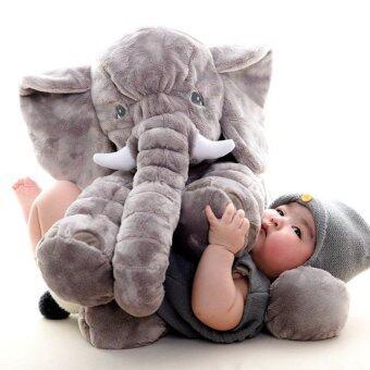 smartbabyandkid ตุ๊กตาช้าง Jelly Elephant ขนาด 60 cm.(สีเทา)