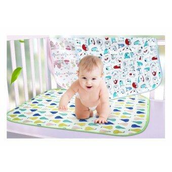 Babyshop656 ผ้ารองสำหรับปูที่นอนเด็ก ผ้ารองกันน้ำ ผ้ารองกันเปื้อน ขนาด 70*85cm รุ่น forest tiger animal – Baby sleeping sheet 70x85 cm. (Forest tiger animal)