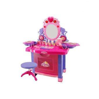 STL ชุดโต๊ะเครื่องแป้งสาวน้อย สีชมพู
