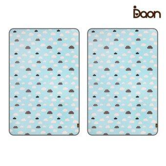 Daon เบาะรองนอนระบายอากาศ - เด็กแฝด 3D Air Mesh Mattress-Blue Sky 2PCS ลายก้อนเมฆ สีฟ้า (จำนวน 2 ผืน)