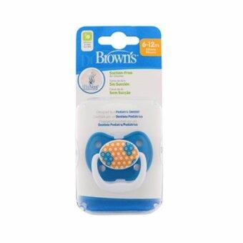 Dr.Brown'sจุกหลอกPreVent CLASSIC SHIELD Pacifier, Stage 2 * 6-12M - Blue, 1pk.(Blue)
