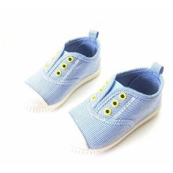 Ms Rabbit รองเท้าเด็ก รองเท้าผ้าใบแคนวาส รองเท้าผ้าใบเด็กสีสันสดใส (Size 15.0)