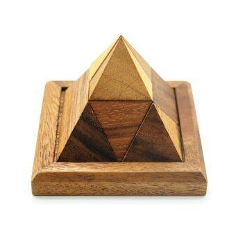 ปิรามิดฟาร์โรห์มหาสนุก,ของเล่นเสริมทักษะ Triangular Pharaoh pyramid puzzles,Classic Wooden Game and Toys