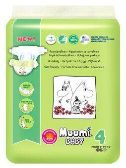 Muumi Baby ผ้าอ้อมเด็กสำเร็จรูป ชนิดเทป ไซส์ L (7-14 kg.) บรรจุ 46 ชิ้น 1 ห่อ