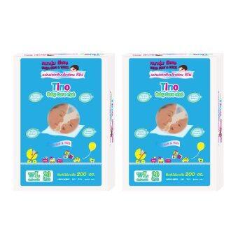 Tino แผ่นรองซับเด็กอ่อน ไซต์ L 2 ห่อ (20 ชิ้น/เเพ็ค)