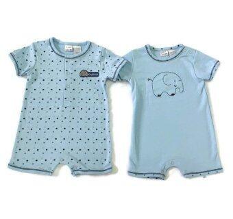 LITTLE BABY M เสื้อผ้าเด็กเล็ก ชุดหมีแพ็คคู่ สีฟ้า