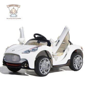 Thaiken รถเก๋งเด็กไฟฟ้า สปอร์ต 2 มอเตอร์ เปิดประตูปีกนก (สีขาว)