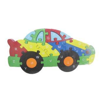 ASIA TOY ของเล่นไม้ ชุดตัวต่อไม้ 3 in 1 รูปรถ