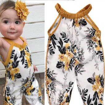 Toddler Kids Baby Girls Romper Belt Jumpsuit Bodysuit Clothes - intl