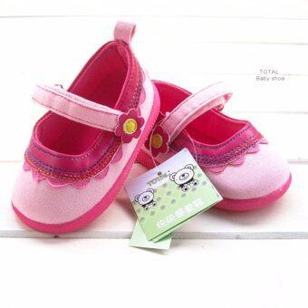 ((พื้นยางกันลื่น/น้ำหนักเบา))TOTAL รองเท้าเด็กวัยหัดเดิน รองเท้าเด็กผู้หญิงสีสันสดใส Size130