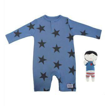 ชุดบอดี้สูทเด็กออแกนิค / Baby Blue Suit in Organic Cotton